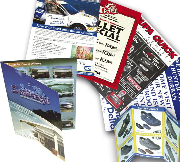 Flyers, brochures, marketing material