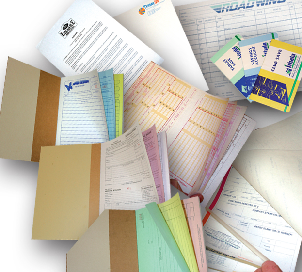 Office stationery - dup, trip and quad books, waybills, bank books